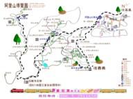 阿里山地圖-阿里山森林遊樂區地圖